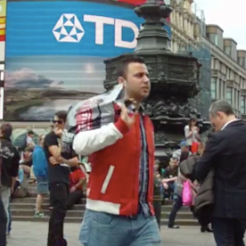 Still from our film of Piccadilly Circus