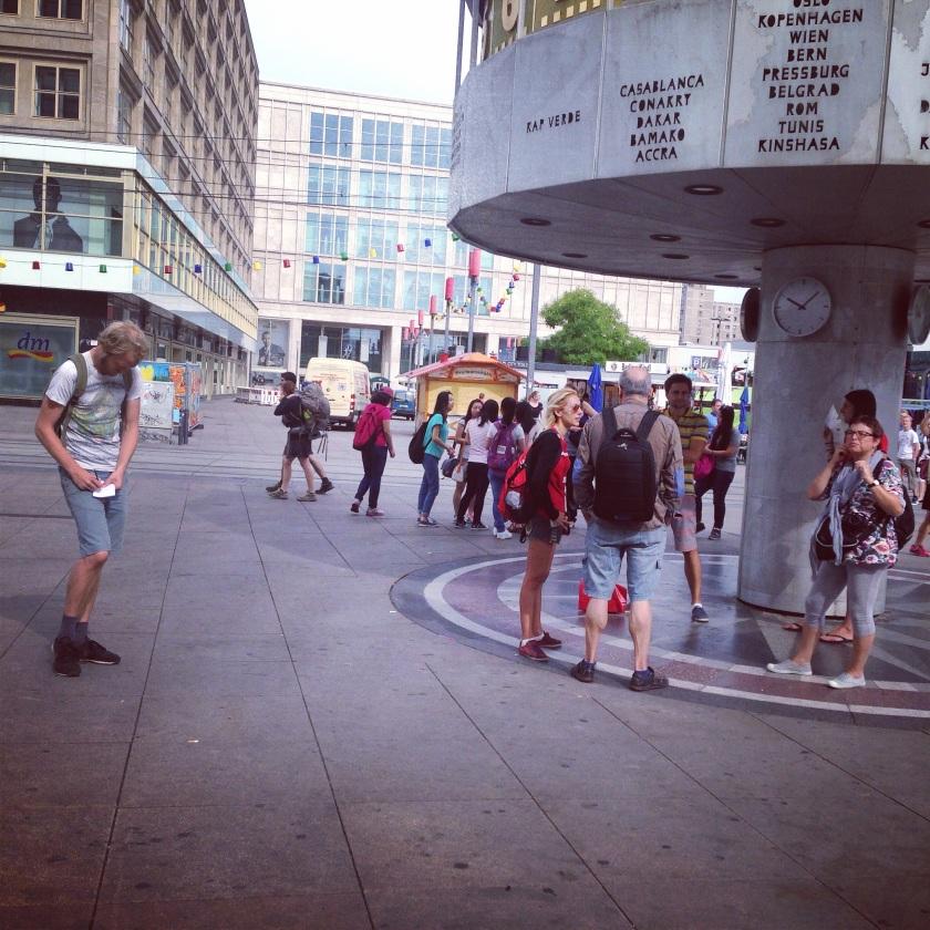 world time clock on Alexanderplatz