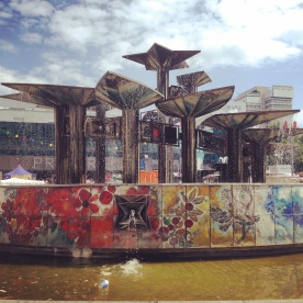 Meeting point in Berlin - the Fountain of International Friendship on Alexanderplatz