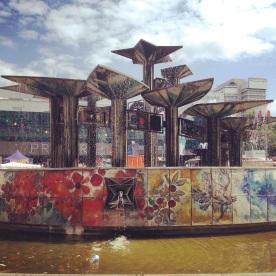 Meeting point in Berlin - the Fountain of International Friendship on Alexanderplatz