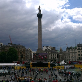 London test in Trafalgar Square